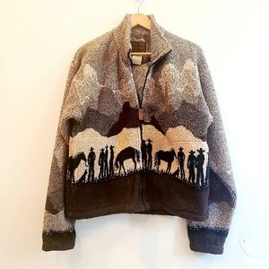 Vintage Cowboys and Horses Teddy Jacket